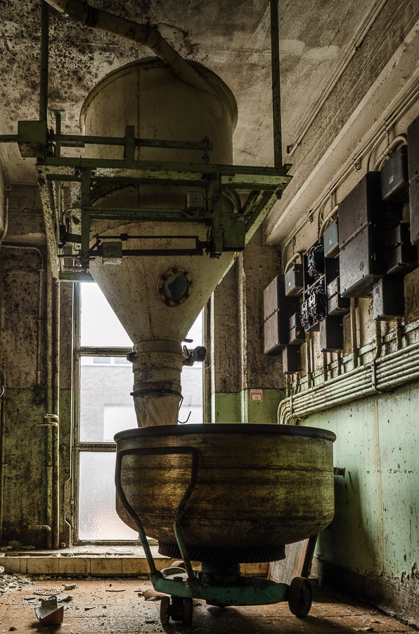 Verlaten koekjesfabriek
