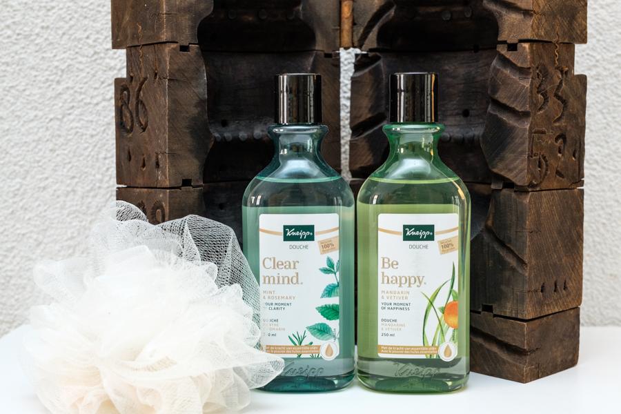 De nieuwe Kneipp Douches Be happy en Clear mind in duurzame verpakking