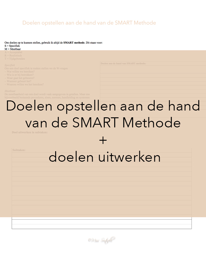 Doelen aan de hand van de SMART Methode Pinterest