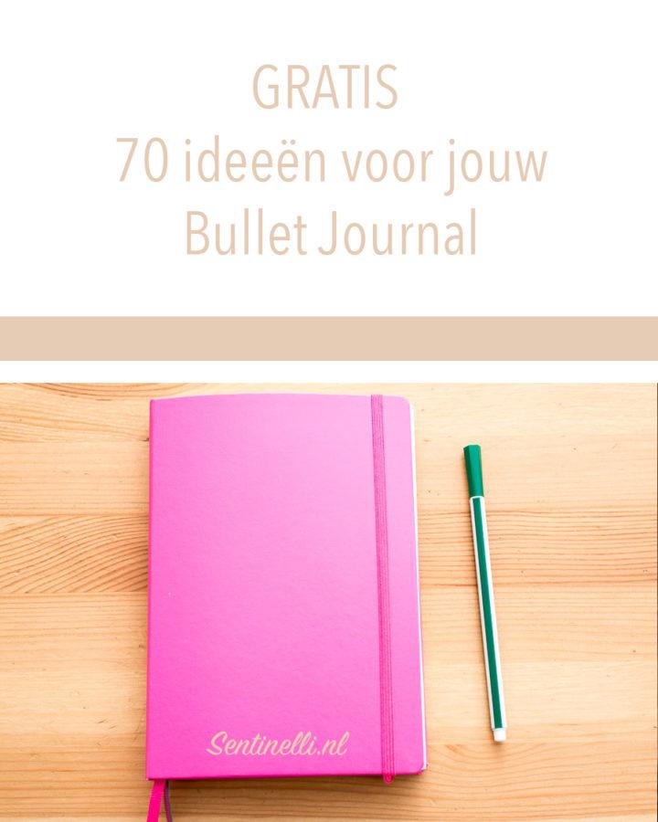GRATIS 70 ideeën voor jouw Bullet Journal