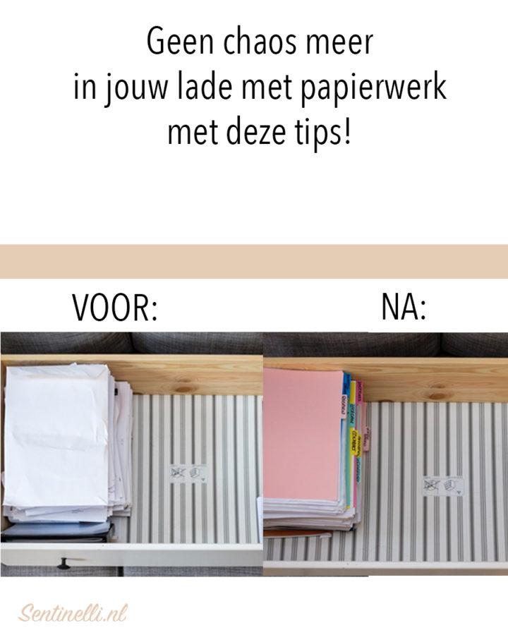 Geen chaos meer in jouw lade met papierwerk met deze tips!