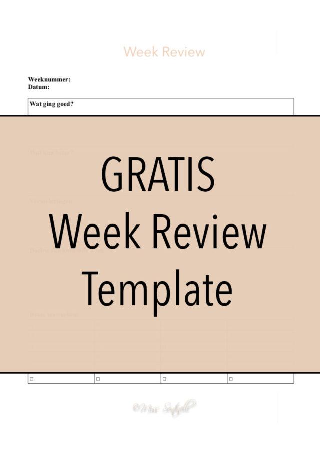 Gratis Week Review Template