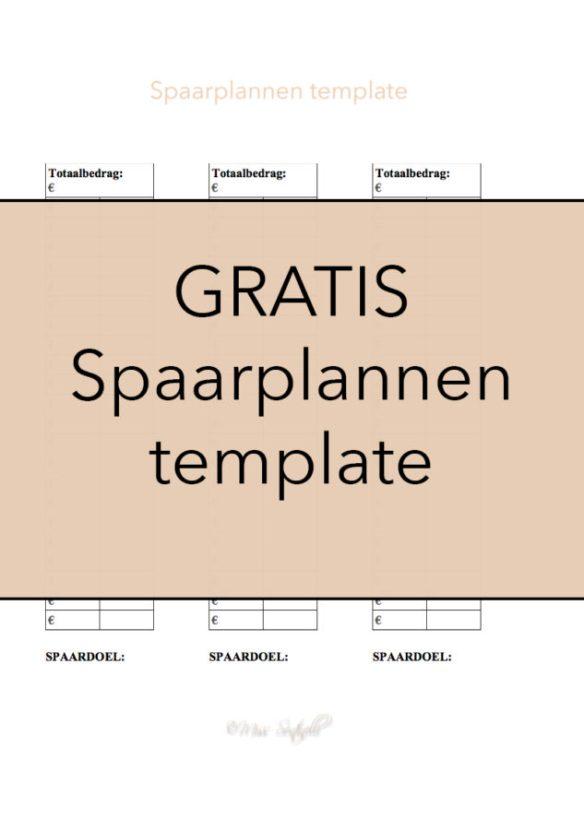 Gratis spaarplannen template