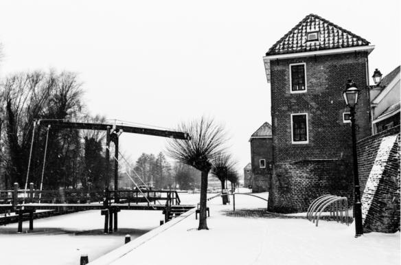 Haven Leerdam in de sneeuw