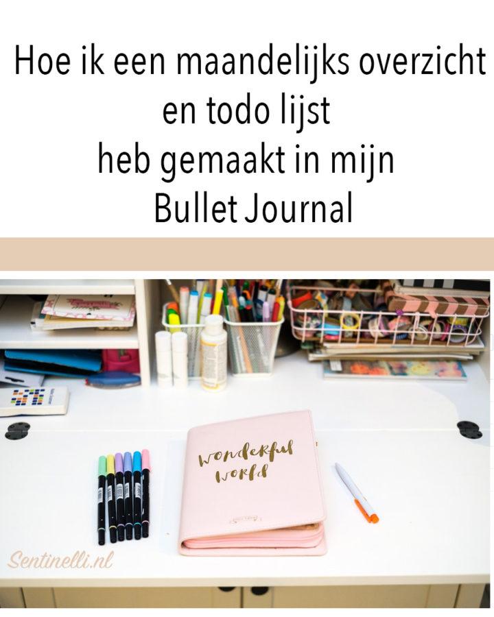 Hoe ik een maandelijks overzicht en todo lijst heb gemaakt in mijn Bullet Journal