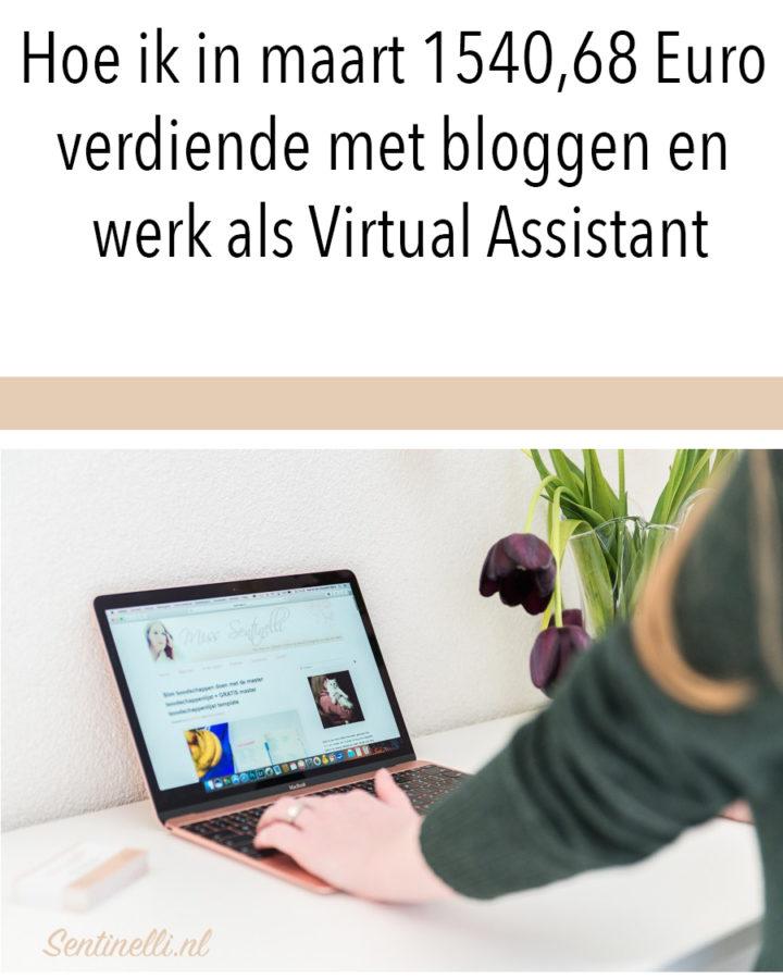Hoe ik in maart 1540,68 Euro verdiende met bloggen en werk als Virtual Assistant