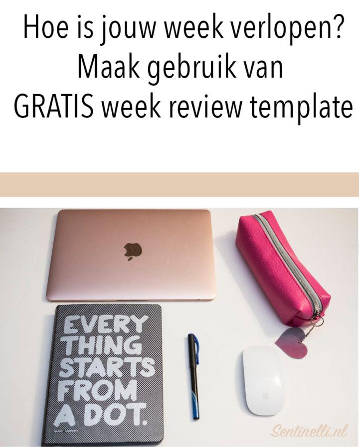 Hoe is jouw week verlopen? Maak gebruik van GRATIS week review template
