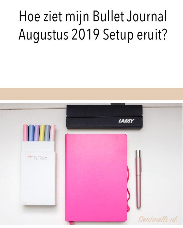 Hoe ziet mijn Bullet Journal Augustus 2019 Setup eruit?