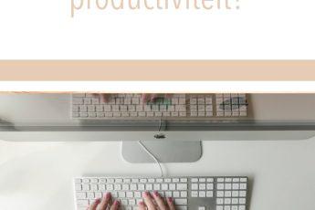 Hoe zorg ik voor meer productiviteit