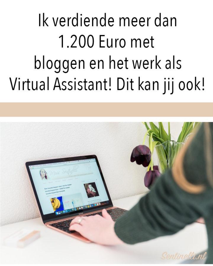 Ik verdiende meer dan 1.200 Euro met bloggen en het werk als Virtual Assistant! Dit kan jij ook!