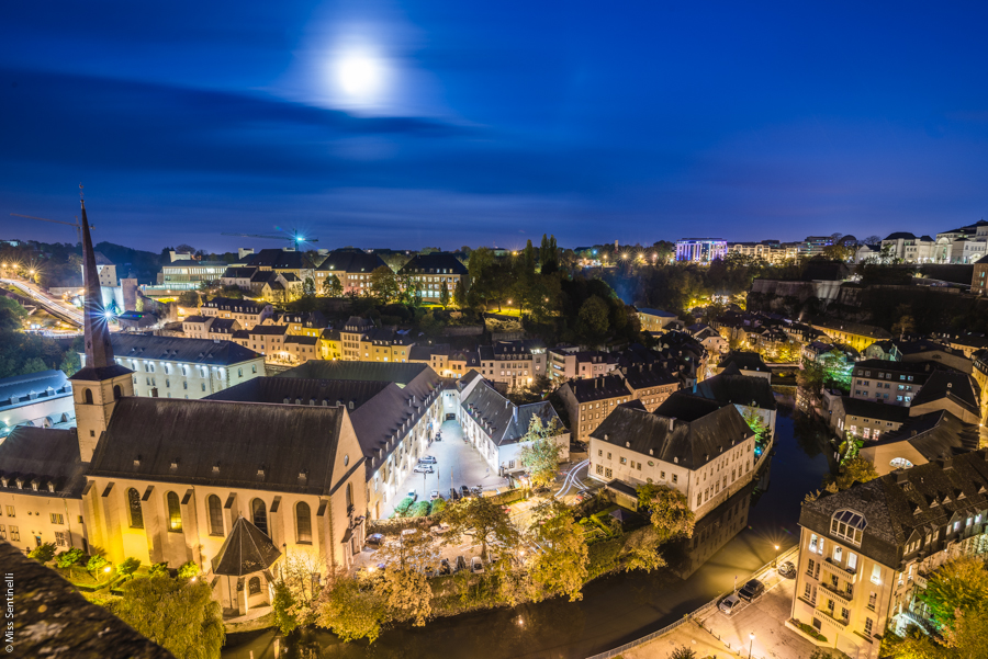 Luxemburg at night