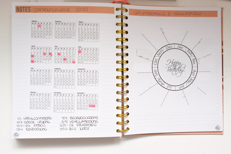 Mei planning in de Josh V Mascha Planner en financiën bijhouden in Evernote