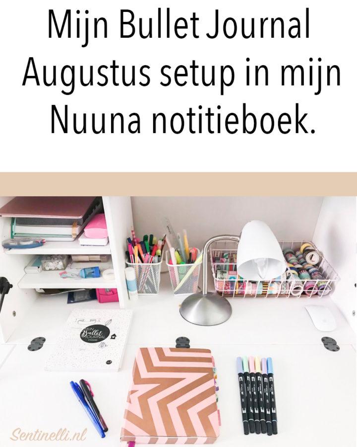 Mijn Bullet Journal Augustus setup in mijn Nuuna notitieboek.