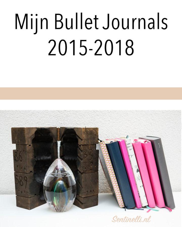 Mijn Bullet Journals 2015-2018