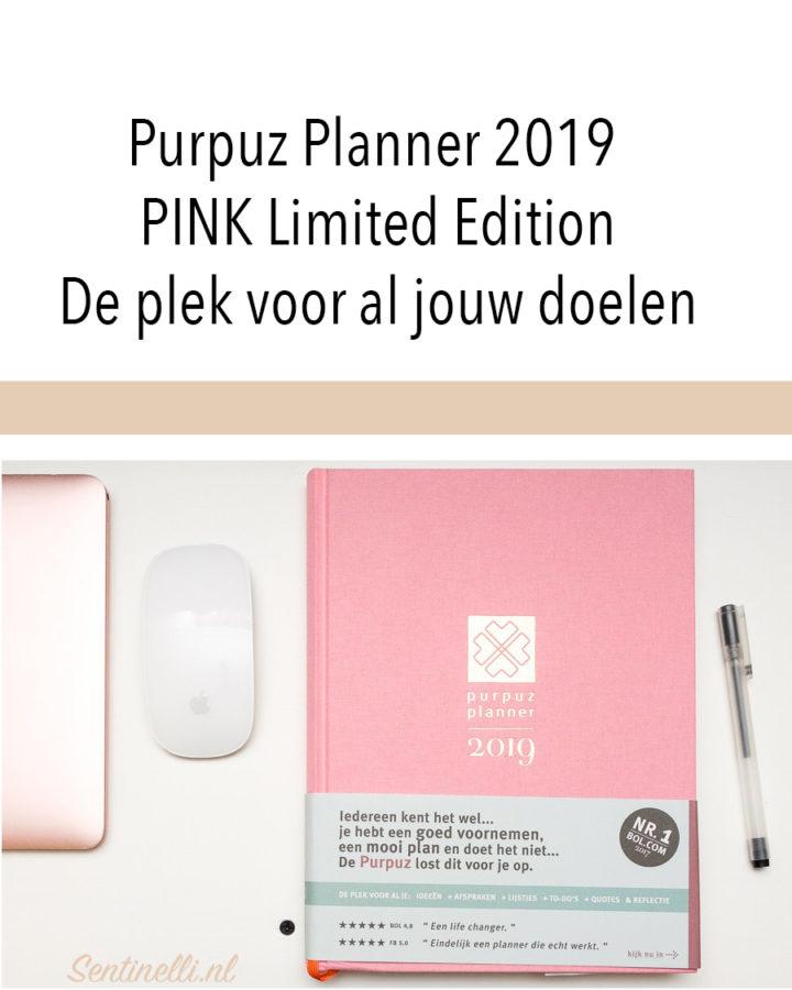 Purpuz Planner 2019 PINK Limited Edition De plek voor al jouw doelen