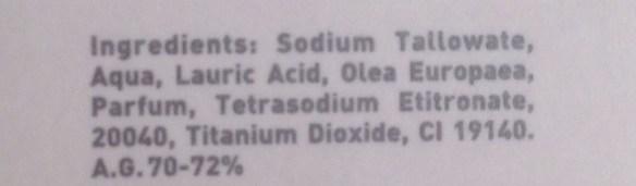 La Chinata Olijfolie zeep ingrediënten