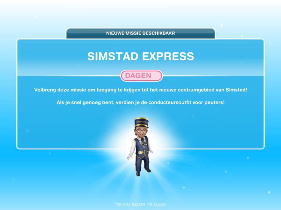Missie walkthrough: Simstad Express