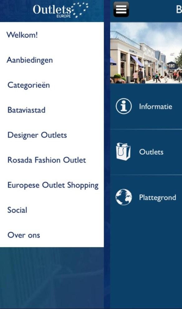 Vind de leukste outlets in Europa met app Outlets Europe