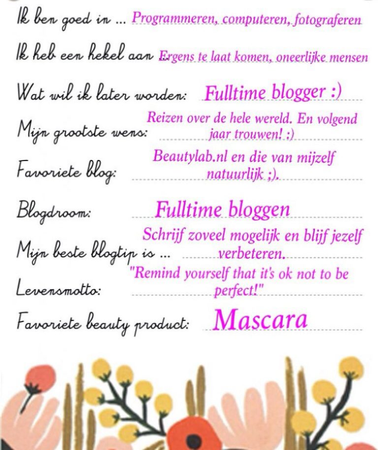The Blog Friendship Booklet