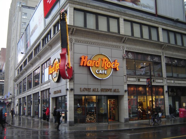 The End of The Hard Rock Cafe at Yonge and Dundas