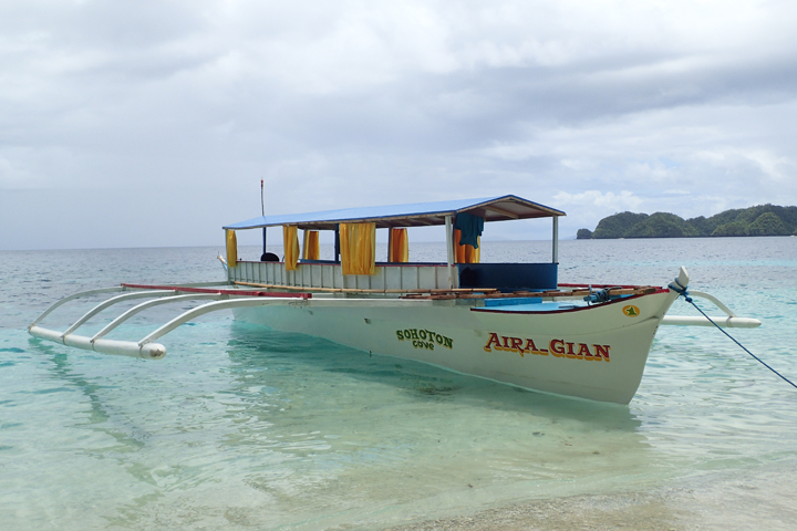 A private boat for Bucas Grande island hopping tour