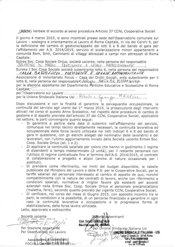 verbale di accordo ex art. 37 CCNL Cooperative Sociali
