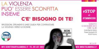 #stop al #femminicidio Italia Morale