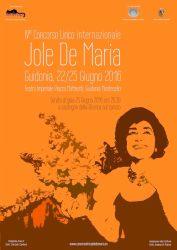 Manifesto 2016 concorso lirico jole de maria