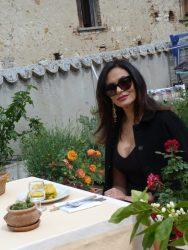 Maria Grazia Cucinotta sul set di Timballo