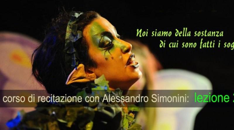 Corso di recitazione con Alessandro Simonini