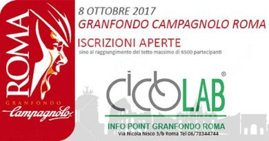 Stanno chiudendo le iscrizioni della famosa competizione di ciclismo di massa Granfondo Campagnolo Romache quest'anno propone anche tanti eventi collaterali