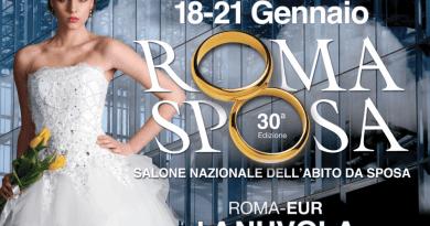 """Dal 18 al 21 gennaioRomaSposa 2018 per la prima volta al Roma Convention Center """"La Nuvola"""".Tutti i trend del settore wedding, dall'abito boho-chic alle novità ispirate al mondo circense."""
