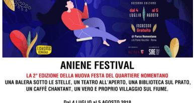 Torna per la seconda edizione Aniene Festival la festa che ha animato a settembre dello scorso anno le rive del fiume Aniene portando musica, ballo, arte e attività gratuite.
