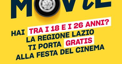 Se hai tra i 18 e 26 anni, dal 23 al 26 ottobre, la Regione Lazio ti ci manda alla Festa del Cinema! Viaggio gratis con Cotral, con Lazio MOViE.