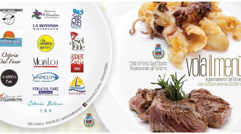 Torna da febbraio Vola il Menù, l'iniziativa gastronomica di Porto Sant'Elpidio, che permette di gustare un menù completo a prezzo agevolato ogni giovedì.