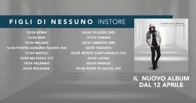 Fabrizio Moro, in uscita con il suo ultimo lavoro inedito, Figli di Nessuno, ha annunciato la tracklist dell'album e le date degli instore.