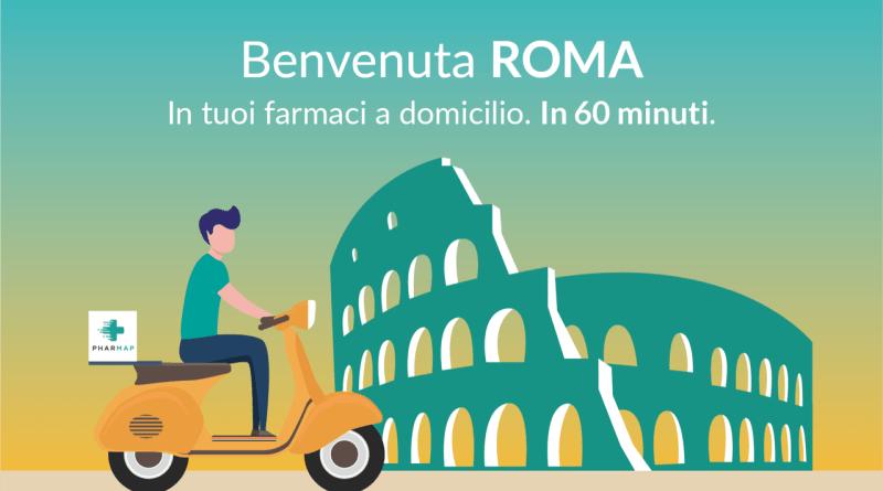 Pharmap, il primo player in Italia dell'home delivery farmaceutico, sbarca a Roma con più di 40 farmacie. Da app e web, dal 4 marzo
