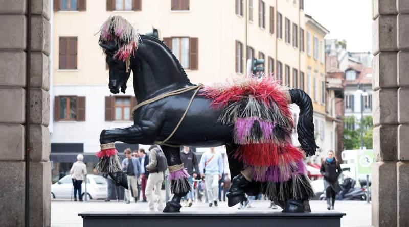 In occasione del concorso romano di Piazza di Siena, fino al 26 maggio, quattro opere del Leonardo Horse Project, patrocinato dal Ministero per i Beni e le Attività Culturali.