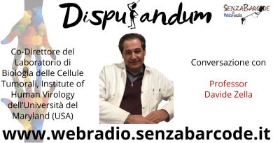 """Al microfono di Disputandum Davide Zella, Institute of Human Virology - Maryland (USA). """"È nella natura del virus cambiare, dovrebbe diventare meno cattivo""""."""