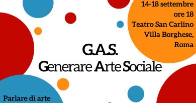 Parte G.A.S. (Generare Arte Sociale), il primo progetto Europeo Restore dedicato al riconoscimento della figura dell'operatore di teatro sociale e in chiusura il convegno nazionale.