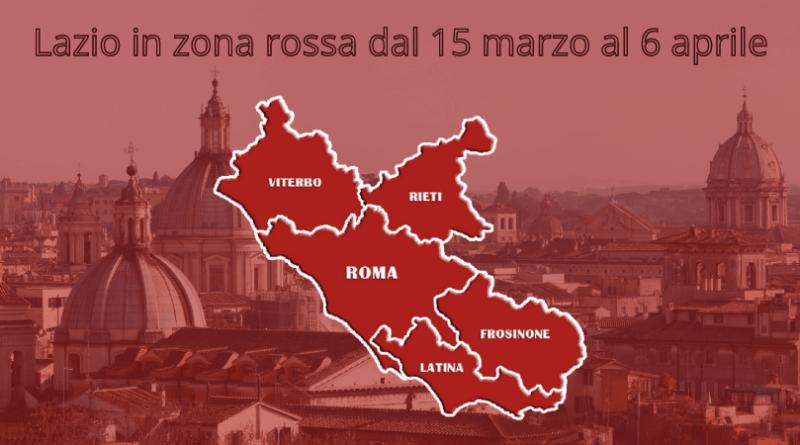 Zona rossa, Roma e Lazio nelle massime restrizioni. D'Amato è preoccupato per gli approvigionamenti di vaccino.