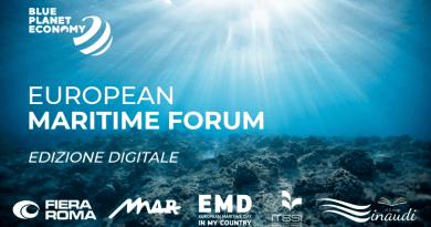 Il 7 e 8 ottobre Blue Planet economy european maritime forum 2021 by Fiera Roma. In presenza e sul sito dell'evento.