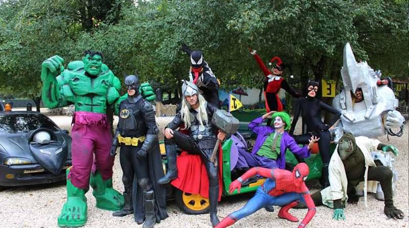 Al Fantastico Mondo del Fantastico al Castello di Lunghezza domenica 3 ottobre dalle 10 al tramonto, la grande battaglia dei Supereroi.