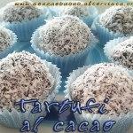 tartufi al cacao senza glutine, vegan e raw