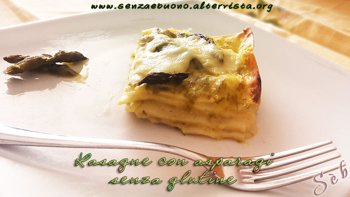 lasagne senza glutine e senza lattosio