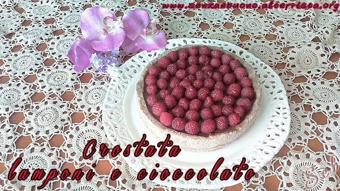 Crostata lamponi e cioccolato