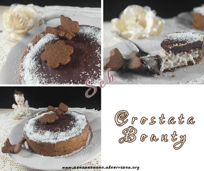 Crostata Bounty vegan e senza glutine