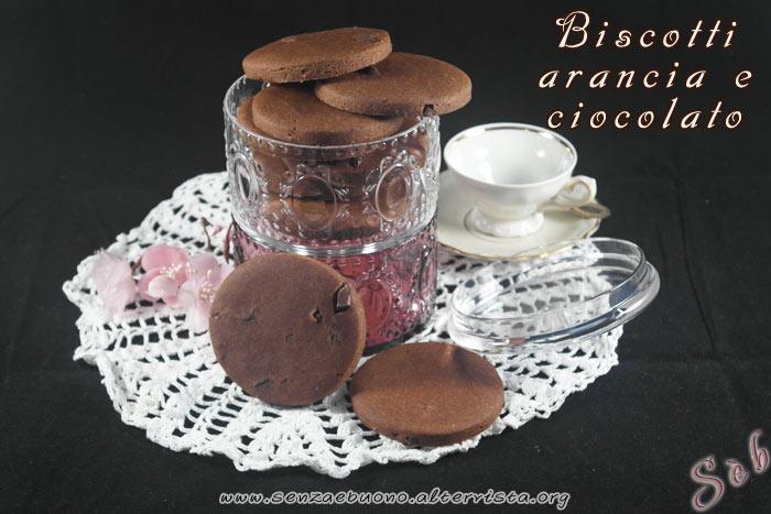 Biscotti arancia e cioccolato senza glutine e vegan