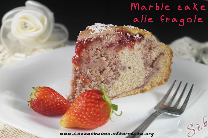 Marble cake alle fragole